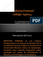 Medicina Forense Descripcion Del Curso 2013