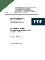 Dalla Zuanna - A Familistic Interpretation of Italy's