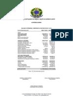 Prestação de Contas Novembro  2012