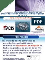 Adopción buenas prácticas gestión TICs-Mario-Monsalve-2013-02-21