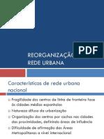 Reorganização da rede urbana