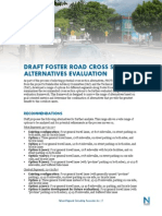 Foster Road DRAFT Cross-Section Alternatives Evaluation 2.19.13