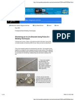 Shortening an in-Line Bracelet Using Pulse-Arc Welding Techniques