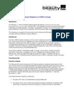 PBA Business Alert on COBRA Feb 2009