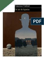 75987816 Umbral Francisco Un Ser de Lejanias