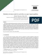 2001- Modified solvation model for salt effect on vapor–liquid equilibria