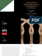 I Jornada de Buenas Prácticas en Patrimonio Cultural