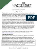 St Margaret's Westminster - soprano vacancy