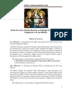 Modo de Rezar El Santo Rosario en Sufragio de Las Almas Del Purgatorio o de Un Difunto