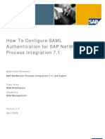 How to Configure SAML Authentication for SAP NetWeaver Process Integration 7.1