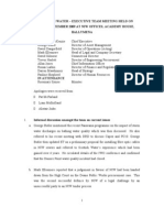 MINUTES OF NI WATER – EXECUTIVE TEAM MEETING HELD ON TUESDAY 8 SEPTEMBER 2009