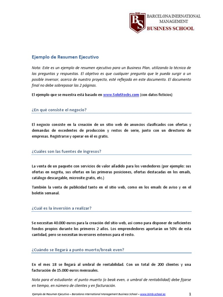 Contemporáneo Reanudar Resúmenes Molde - Colección De Plantillas De ...