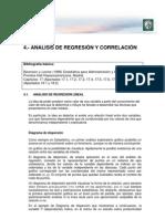 4 - Correlacion y Regresion Estadisticas