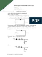 Lista de exercícios diodos