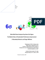 What Wall street analysts say about six sigma