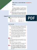 PAGINAS DEL LIBRO PARA LA SOLUCIÓN DEL TALLER Nº 2