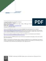William Sharpe Simplified Model of Portfolio Analysis 0