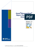 Quest MessageStats Report Pack for Lotus Notes Migration User Guide v10