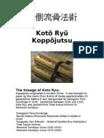 Koto Ryu Koppojutsu