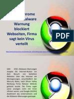 Google Chrome Netseer Malware Warnung blockiert Webseiten, Firma sagt kein Virus verteilt