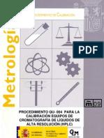 Calibracion de Un Cromatografo e HPLC