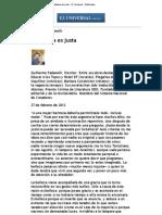 La Belleza Es Justa - El Universal - Editoriales