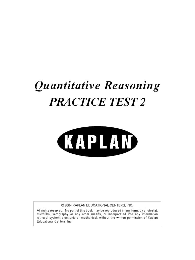 Quantitative Reasoning Practice Test 2