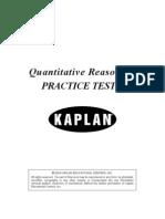 Quantitative Reasoning Practice Test 6