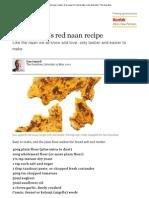 Red Naan Recipe _ Dan Lepard