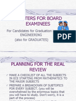Pointers for Board Examinees Ece
