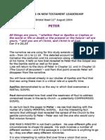 studies in new testament leadership - peter