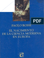 Paolo Rossi, El Nacimiento de La Ciencia Moderna en Europa