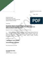 Contoh Surat Perlantikan Penerrima Aset Kpsm