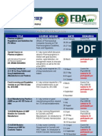 FDA Academy Course Calendar 2013