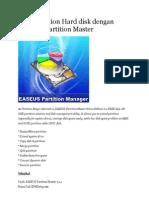 Urus Partition Hard Disk Dengan EASEUS Partition Master