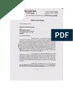 carta notarial de Elías