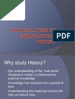 Evolution of OT