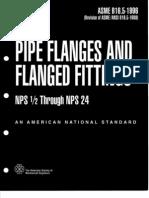 Asme b16.5 (1996) Pipe Flanges
