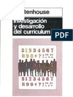 Stenhouse Investigacion y Desarrollo Del Curriculum