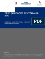 Impozitele in Moldova 2012 ROM
