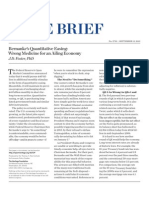 Bernanke's Quantitative Easing- Wrong Medicine for an Ailing Economy  Qe3