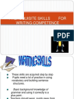 Writing SkillsWRITING SKILLS