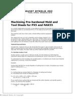 Machining Mould Steel PX5 NAK55 P20 NAK80