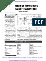 Computerised Morse Code Generator Transmitter