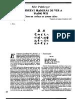 Weinberger, Wang Wei traducción poesía china