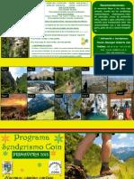 Programa Senderismo Coín Primavera 2013_Tríptico