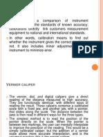 Vernier to Comparator