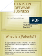 Patents on Software Business