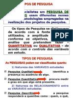 UDI - Ass 03 Pesquisa de Marketing - Tipos de Pesquisa