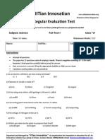 Regular Evaluation Test